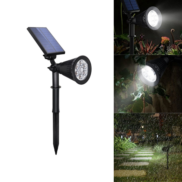 4W Solar 6 LED PIR Motion Sensor Flood Light Lamp for Home Outdoor Lawn Yard Garden
