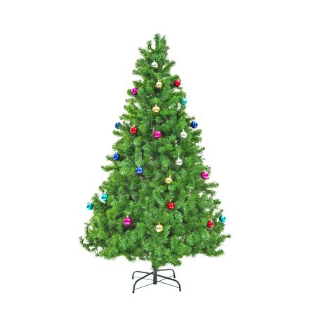 6Ft 180cm Green Christmas Tree - Baubles