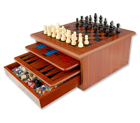 10 in 1 wooden board games toy house brown online shopping