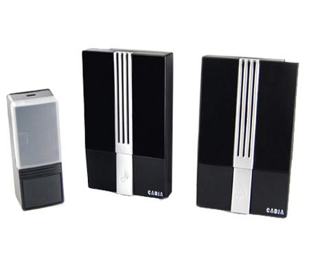 Wireless Portable Doorbell Door Chime With 2 Receivers