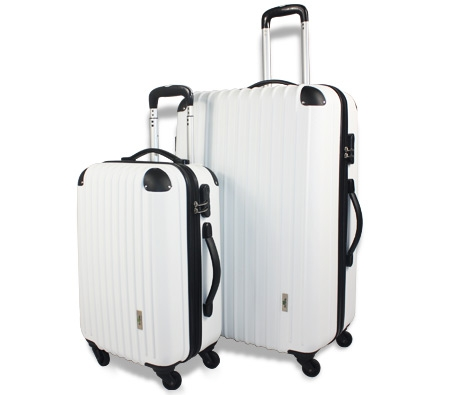 2pc Hard- Shell Luggage Trolley Set - White - Online Shopping ...