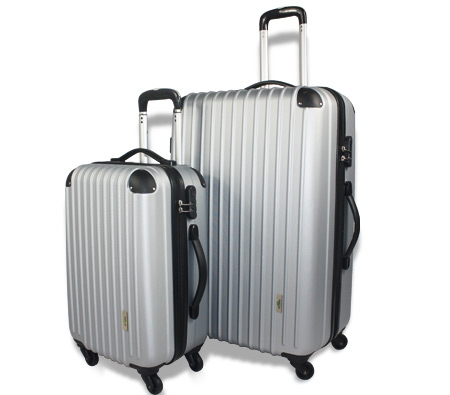 2pc Hard- Shell Luggage Trolley Set - Silver - Online Shopping ...
