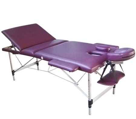Genki portable massage table bed foldable adjustable for Mobile beauty therapist table