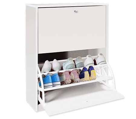 Incroyable White Shoe Cabinet