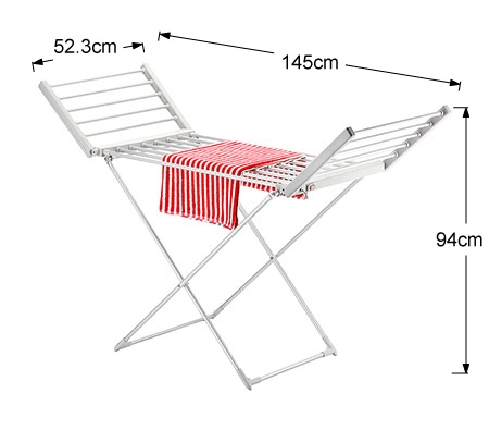 Electric Heated Clothes Towel Drying Rack Aluminum Airer ...