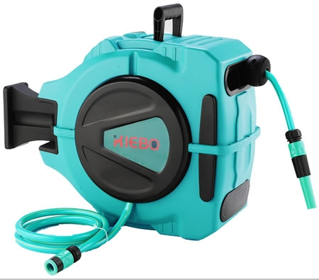wall mountable retractable hose reel with 20 meter water hose - Retractable Hose