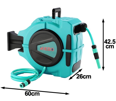 wall mountable retractable hose reel with 20 meter water hose - Retractable Hose Reel