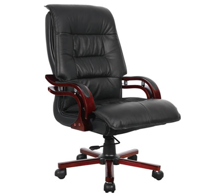 Professional High-Back Executive Genuine Leather Office Chair ...