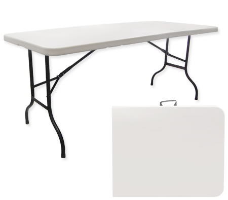 Large Folding Portable Outdoor Table - White - Large Folding Portable Outdoor Table - White - Online Shopping
