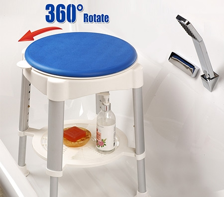 Shower Stool with Rotating Safety Seat - Online Shopping ...