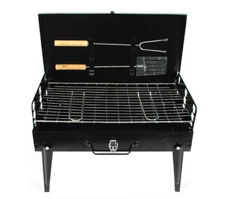 Portable Camping Charcoal BBQ Hibachi Grill U0026 Carry Case