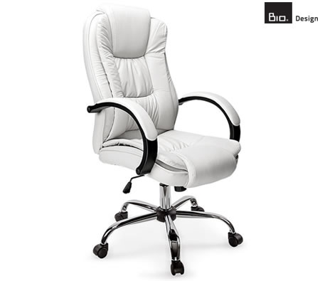 White Faux Leather Executive Chair Online Shopping Shopping Square COM AU