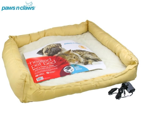 paws n claws heated pet bed 73cm x 82cm - Heated Pet Beds