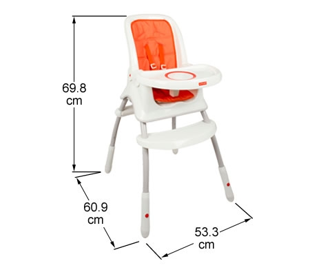 Fisher Price Orange Grow With Me Highchair
