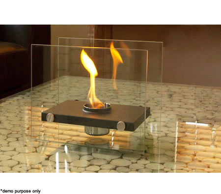 Home expression eco friendly rectangle fireplace 1 pot for Eco friendly fireplace