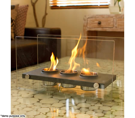 home expression eco friendly rectangle fireplace 3 pots