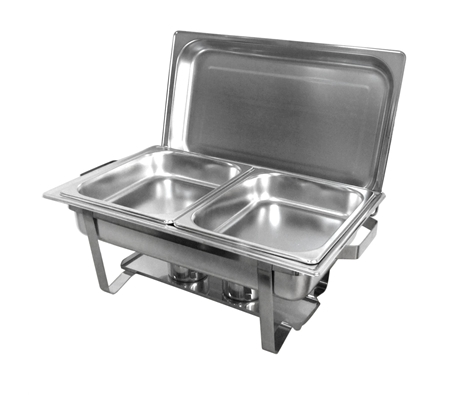 bain marie bow chafing dishes 2x4 5l stainless steel buffet warmer stackable set online. Black Bedroom Furniture Sets. Home Design Ideas