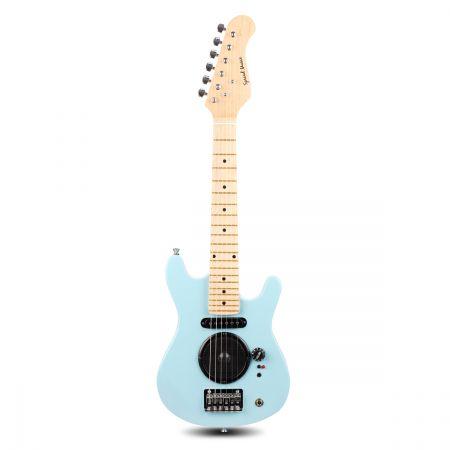 kids electric guitar built in speakers bonus accessory set amplifier blue online shopping. Black Bedroom Furniture Sets. Home Design Ideas