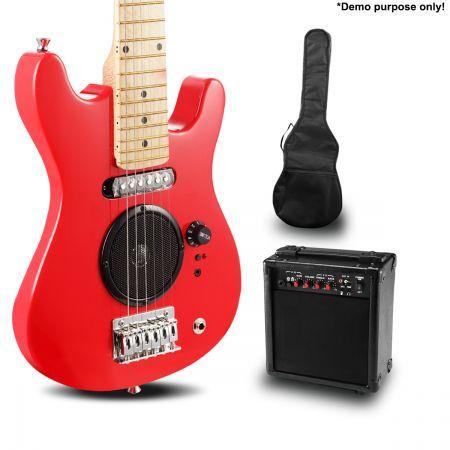 kids electric guitar built in speakers bonus accessory set amplifier red online shopping. Black Bedroom Furniture Sets. Home Design Ideas