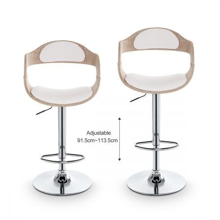 Set of 4 round wicker bar stools cream online shopping for Cheap bar stools set of 4