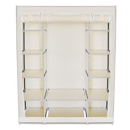 Beige 5 Level Non Woven Cloth Storage Wardrobe ( Code: P57970 )