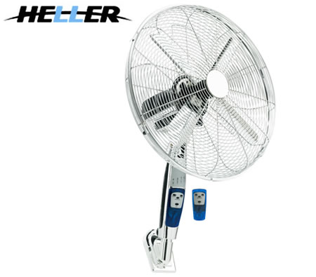 Heller 40cm Oscillating Wall Mounted Fan With Remote