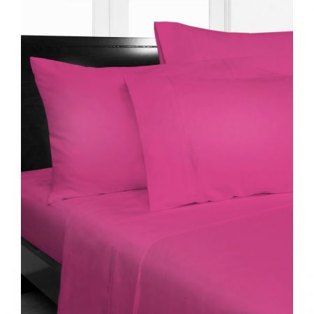Marvelous Double Bed Microfibre Hot Pink Fitted Sheet Combo Pack