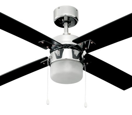 Heller stella 1300mm 4 reversible blade ceiling fan with light heller stella 1300mm 4 reversible blade ceiling fan with light white black reversible blades audiocablefo