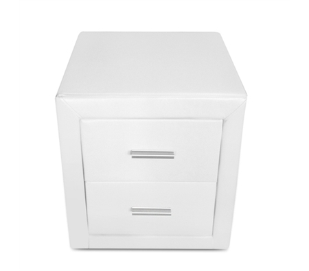 White pu leather bedside tables online shopping shopping square white pu leather bedside tables watchthetrailerfo