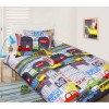 Glow In The Dark Double Bed In the City Quilt Cover Set