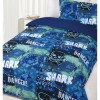 Glow In The Dark Single Bed Danger Shark Quilt Cover Set