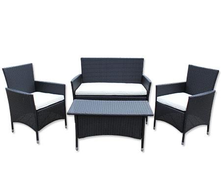 Rattan Pe Wicker 4 Seater Complete Sofa Lounge Set 2 X