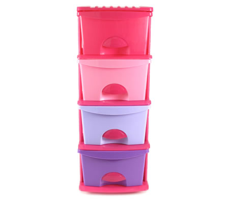 Plastic Storage Drawers Shelf - 4 Levels with Slide-Out Drawers u0026 Wheels for Girls  sc 1 st  Shopping Square : pink storage drawers plastic  - Aquiesqueretaro.Com
