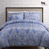 King Bed Kingston Blue Quilt Cover Set