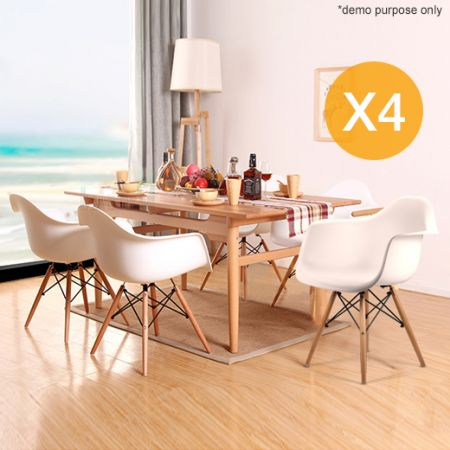 Eames eiffel style replica designer dining chairs cafe for Imitation designer chairs