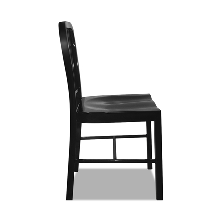 Set Of Metal Navy Dining Chairs Black Online Shopping Shopping Square COM