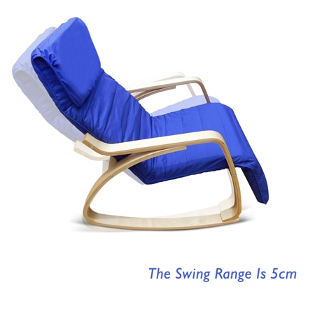 Blue Birchwood Rocking Chair With Cushion Online Shopping Shopping Square