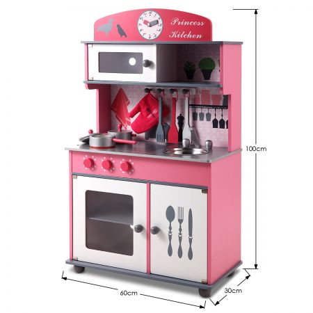 Pink Wooden Toy Kitchen Set Online Shopping Shopping Square Com