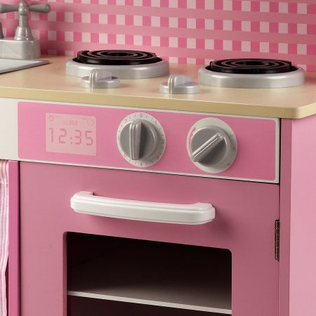 Pink Toy Kitchen With Sink Microwave Oven Online Shopping
