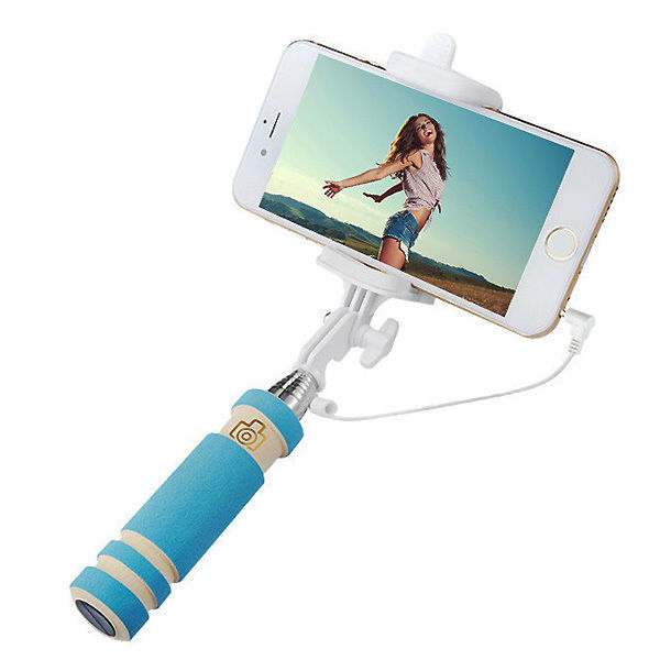 bluetooth wired mini monopod telescopic selfie stick remote holder for iphone android orange. Black Bedroom Furniture Sets. Home Design Ideas