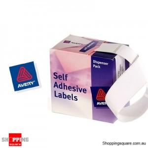 Avery Dispenser Pack Labels White Rectangle 76mm x 27mm