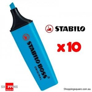 Stabilo Boss Super Plus Highlighters Blue Pk/10