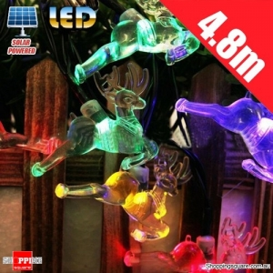Solar Powered 4.8M 20LED Light Deer Holiday for Christmas Wedding Garden Yard Decoration Multicoloured Colorful Colour