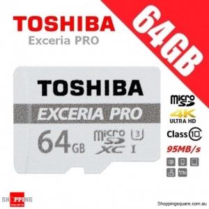 Toshiba Exceria PRO 64GB M401 micro SD SDHC Memory Card 95MB/s UHS-I U3 4K Ultra HD