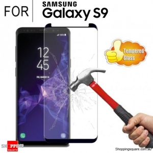 For Samsung Galaxy S9 Premium Real 3D Fully Covered Tempered Glass Film Screen Protector Black Colour