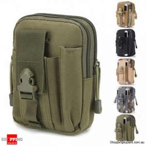 Tactical Military Molle Waist Bag Pack Portable Mini Bag Nylon Phone Wallet For Travel Sports Army Green Colour
