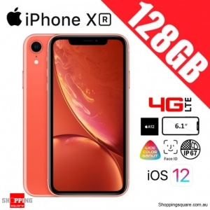 Apple iPhone XR 128GB 4G LTE Unlocked Smart Phone Coral