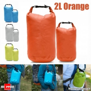 2L Waterproof Dry Bag Pouch Drift Swim Rafting Storage Pack for Camping Travelling - Orange