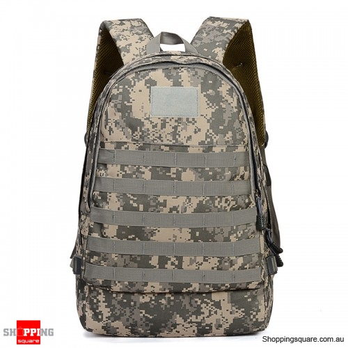 Outdoor Sports Shoulder Zipper Backpack Camouflage Military Camp Storage Punch - ACU