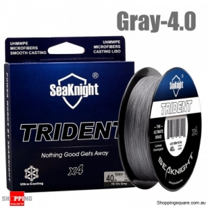 500M 4 Strands PE Braided Fishing Line Super Strong Floating Fishing Rod Wire - Gray -4.0